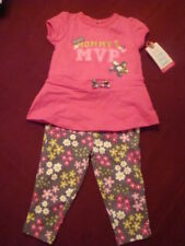 "INFANT/BABY GIRLS 2PC CARTER'S ""MVPrincess"" LEGGING SET  size 6 months  NWT"
