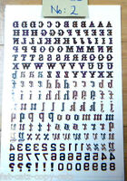 3 DESIGNS, TEMPORARY TATTOOS LETTERS NUMBERS NAMES ALPHABET CRAFT PARTIES UKSELL