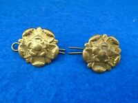 PAIR OF PRE WWI, WWI, WWII, EAST LANCASHIRE REGIMENT COLLAR BADGES + PINS