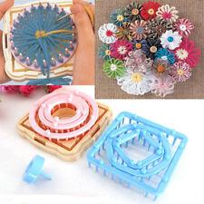 8X Flower Pattern Knitting Loom Maker Wool Yarn Needle Knit Craft Tool F9966