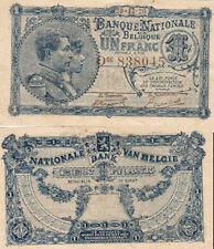 1 FRANC BANQUE NATIONALE DE BELGIE 1920 20-12-20