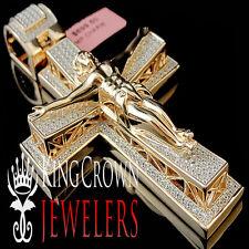 Mens Exclusive Custom Piece Real Silver Big XL 3.5''Jesus Crucifix Cross Pendant