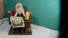"1993 Holiday Creations Animated Holiday Scene ""Writing Santa"" 18"" x 14"""