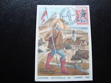 FRANCE - carte 1er jour 17/3/1962 (journee du timbre) (cy92) french