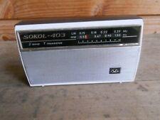 radio transistor Sokol 403 poste  ancien grenier vintage