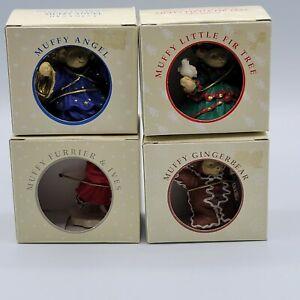 Muffy VanderBear - Lot of 4 Muffy Ornaments 1992 - 94