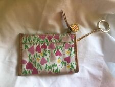Lilly Pulitzer Coin Purse Key Ring and Credit Card Holder with Zippered Pouch