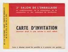FRANCE PHARMACEUTICAL & CHEMICAL PACKAGING TRADE FAIR POSTED 1949 TO BORDEAUX