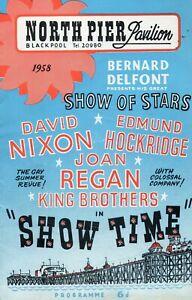 BLACKPOOL NORTH PIER 1958 'SHOWTIME' DAVID NIXON PROGRAMME & BROCHURE.