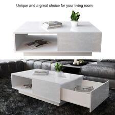 Kaffeetisch Couchtisch Beisteltisch Weiß Hochglanz Sofatisch Wohnzimmer Modern
