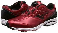【DHL】New MIZUNO Golf Shoes WAVE CADENCE Boa 51GM1870 Mens Red × White from Japan