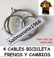 2 CABLES FRENO + 2 CAMBIO MTB BICICLETA DE MONTAÑA PARA CAMPAGNOLO SHIMANO SRAM