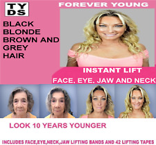 FOREVER YOUNG INSTANT FACE LIFT 5 ELASTIC BANDS AND 42 TAPES LIGHT HAIR