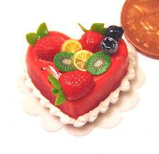 1:12 misti frutta Casa delle Bambole Miniatura Accessorio per dolci & glassa alla fragola nc76h