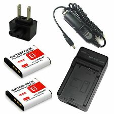 Charger+2x Battery for Sony Cyber-Shot DSC-W100 DSC-W110 DSC-W115 Digital Camera