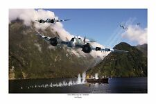 "WWII WW2 RAAF RAF Bristol Beaufighter Aviation Art Photo Print - 8"" X 12"""