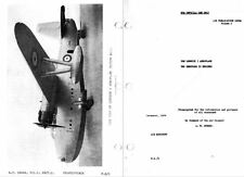 Saunders-Roe Saro A.36 Lerwick FLYING BOAT MANUAL RARE ARCHIVE 1930's 40's