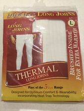 """Men's L Thermal Long Johns 36-39"""" Waist. Brushed Inside For Warmth. BRAND NEW"""