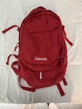 2019 Supreme SS19 Backpack Red White Box Logo Cordura Nylon Jacquard Logo