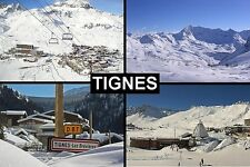 SOUVENIR FRIDGE MAGNET of TIGNES FRANCE SKIING