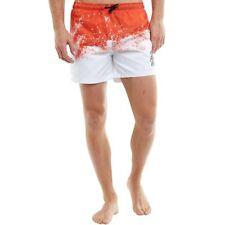Dfnd London Deriva Nadar Pantalones Cortos Blanco Rojo Pequeña TD084 BB 13
