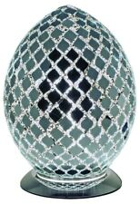 NEW Fabulous Medium Mosaic Glass Crackle Mirror Tile Egg Table Lamp ,Bedside