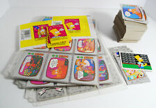 1990 Topps The Simpsons Complete Set of 88 Cards 22 Stickers Sealed Packs + MORE