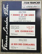 LE FILM FRANCAIS Cinématographie Française FRANCO LONDON FILM Les Guerriers *