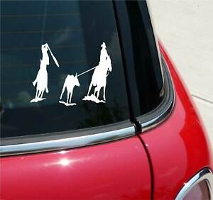 TEAM ROPE ROPING ROPE RODEO HORSE COWBOY GRAPHIC DECAL STICKER ART CAR WALL