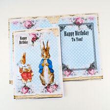 NEW Peter Rabbit Birthday Card- Children Card- Beatrix Potter Blue Card