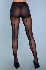 sexy BE WICKED sheer BACK SEAM hosiery PANTYHOSE nylons STOCKINGS hose TIGHTS