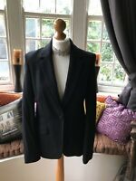 Lovely Ladies Laura Ashley Pinstripe Virgin Wool Mix Lined Jacket UK Size 12