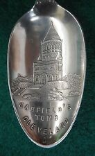 Sterling Souvenir Spoon Garfield's Tomb Cleveland, Ohio ca. 1900