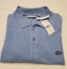 Big & Tall Slim  Fit Lacoste Polo Shirt French Size 9 US Size 4XL Light Blue NWT