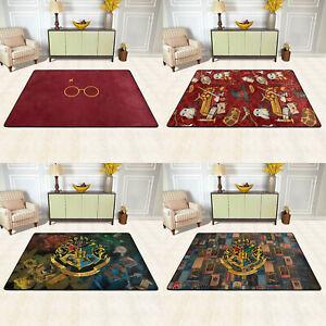 Harry Potter Logo Rug Anti-Slip Large Rug Floor Mat Living Room Bedroom Carpet