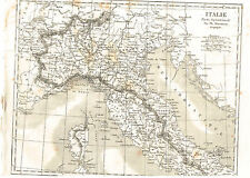 1830 CIRCA CARTINA DELL ITALIA SETTENTRIONALE INCISIONE SU ACCIAIO PM@55