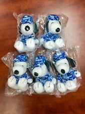 """Lot of 5 Peanuts MetLife 6"""" Plush Snoopy Dolls Military w/ Hat Free Shipping!"""