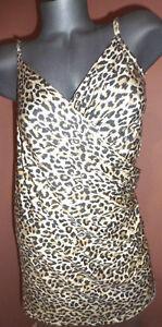 Victoria's Secret ANIMAL PRINT SWIM WRAP DRESS COVER-UP SZ-XS