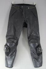 Pantalones de cuero moto en acción + Rodilla Deslizadores/CE armadura: cintura 29 pierna 30/I. en