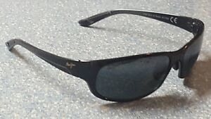 Maui Jim Twin Falls Black Flexible Light Designer Sunglasses Made in Japan
