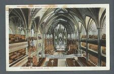 Vintage Postcard Interieur Eglise Notre Dame, Montreal, Posted 1928