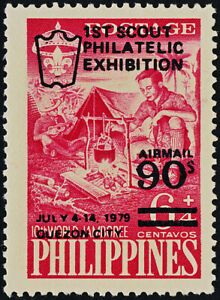Philippines C111 MH First Scout Philatelic Exhibition o/p