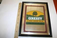 GRESSY, FONDO ESPEJO, ANTIGUO, 442mm x 340mm, MARCO DE MADERA  VER FOTO