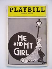 Me and My Girl Playbill January 1988 Jim Dale Maryann Plunkett George S. Irving