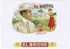 EL BRICHE CUBAN SENOR TOBACCO US Produced  inner cigar box label 1908