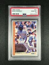 1993 Fleer  Eddie Murray  PSA 10  Baltimore Orioles  Los Angeles Dodgers