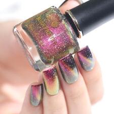 BORN PRETTY Nail Polish Holographicsss Purple Chameleon Magnetic Black Base Need
