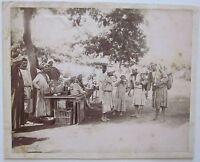 1880c EGYPTIAN MARKET Egypt foto Zangaki albumina 28x22cm mercato egiziano