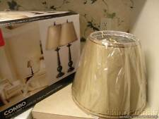 "2 TABLE LAMPS Globe ELECTRIC 12398 27"" BRONZE W/ BEIGE SHADE BRAND NEW IN BOX"