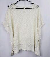 Anthropologie Meadow Rue Eula Lace Poncho Top Size Med / Large